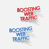 Realistic design element: boosting web traffic — Wektor stockowy