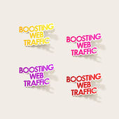 Realistic design element: boosting web traffic — Stockvektor