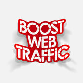 Realistic design element: boost web traffic — Vector de stock