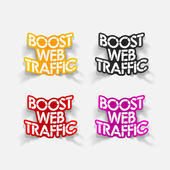 Realistic design element: boost web traffic — Stock Vector