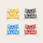 Realistic design element: boost web traffic — Stock Vector
