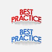 Realistic design element: best practice — Stock Vector