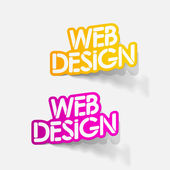 Realistic design element: web design — Stock Vector
