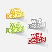 Realistic design element: web design — Stock Vector