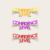 Realistic design element: confidence level — Vetorial Stock
