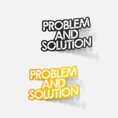 Realistic design element: problem and solution — Stock Vector