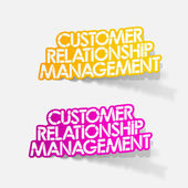 Customer Relationship Management — Stock Vector