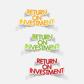 Realistic design element: Return On Investment — Stock Vector
