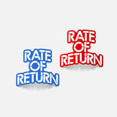 Realistic design element: Rate Of Return — Stock Vector