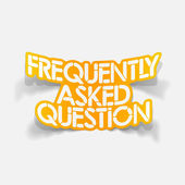 Design element: Frequently Asked Question — Stock Vector