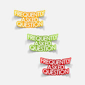 Design element: Frequently Asked Question — Stockvector