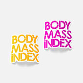 Realistic design element: Body Mass Index — Wektor stockowy