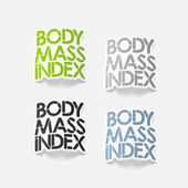 Realistic design element: Body Mass Index — 图库矢量图片