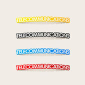 Realistic design element: telecommunications — Stock Vector
