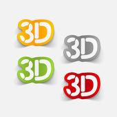Realistic design element: 3d — Stock Vector