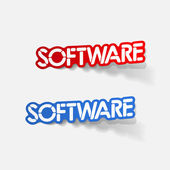 Projekt realistyczny element: oprogramowanie — Wektor stockowy