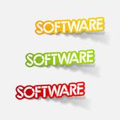 Elemento di disegno realistico: software — Vettoriale Stock