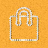 Koncepcja pigułki: zakupy, torba, pakiet — Wektor stockowy