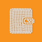 Pills concept: purse, money — Vetorial Stock