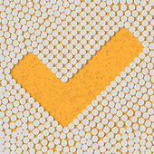 Pills concept: tick, yes — Vetorial Stock