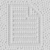 Pills concept: paper, a4 — Vector de stock