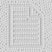 Pills concept: paper, a4 — Vetorial Stock