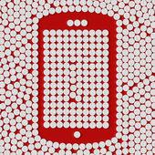 Pills concept: mobile, phone, smartphone — Vector de stock