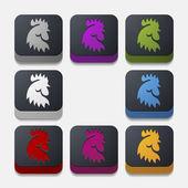 アプリのコンセプト: コック, 鳥, 農業 — ストックベクタ