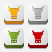 App concept: cow, agriculture — 图库矢量图片