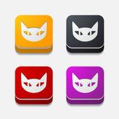 应用程序的概念: 猫 — 图库矢量图片