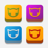 App concept: cat — Stok Vektör