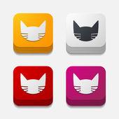концепция приложения: кошка — Cтоковый вектор