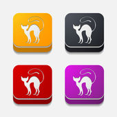 App concept: cat — 图库矢量图片