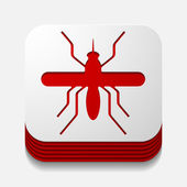 App concept, mosquito, insect — Stock Vector