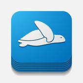 App concept, turtle, reptile — Stock Vector