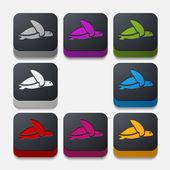 App concept, turtle, reptile — Vector de stock