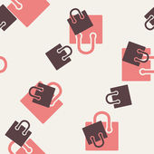 Seamless background, shopping, bag, package — Vettoriale Stock