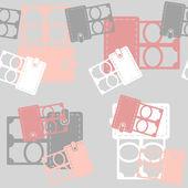 无缝背景、 钱包、 钱 — 图库矢量图片