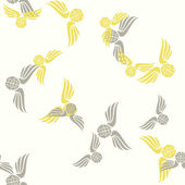 Seamless background, wing, feather, angel, brain — Stockvector