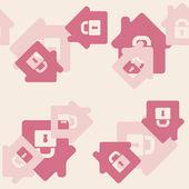 Vector home, house, building — Stock Vector