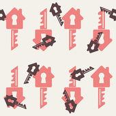 Vector home, house, building, key — Stock Vector