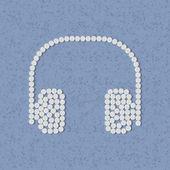 Pills concept, headphones — Stock Vector