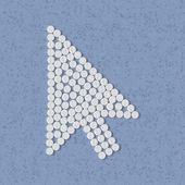 Pills concept, cursor, arrow — Stock Vector