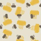 Seamless background: printer — Stock Vector
