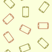 Seamless background: smartphone — Stock Vector