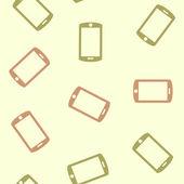 Seamless background: smartphone — Stock Vector
