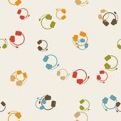 Seamless background: headphones — Stock Vector