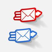 Realistic design element: newsletter — Stock Vector