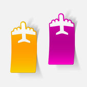 Realistic design element: plane — Stock Vector
