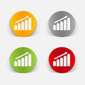 Elemento de diseño realista: gráfico — Vector de stock